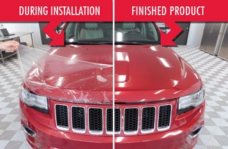 Clear auto bra michigan paint protection plus xpel and for Car paint protection film cost